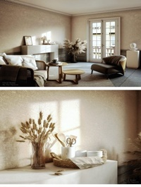 Interior Scene Livingroom By NicNguyen
