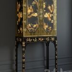 BAKER GeorgeIII Oriental Lacquer Cabinet