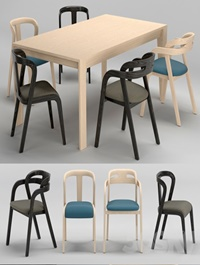 Passioni Genea chair Prince Table