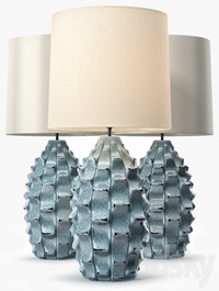 LuxDeco Bayern Table Lamp Turquoise Base