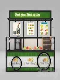 Self-service fruit juice cart