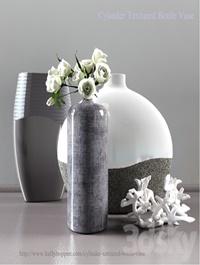 Cylinder Textured Bottle Vase