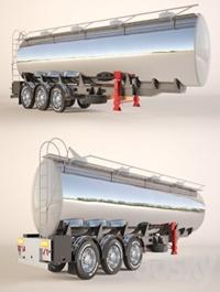 Gasoline Fuel Tanker Trailer Semitrailer tank for fuel transportation