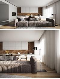 Kitchen Livingroom Scene By VuBaDinh