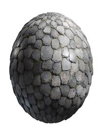 Irregular stone roof with moss 02 PBR Texture