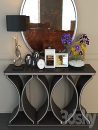 Unique modern console table