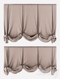 London curtains in two positions