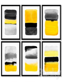 A series of posters with abstract painting