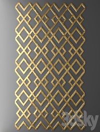 Decor for wall Panel 3D