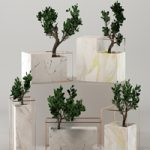 Marble flower pot collection
