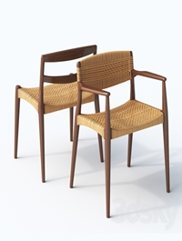 Chair and armchair Ejner Larsen & Aksel Bender Madsen