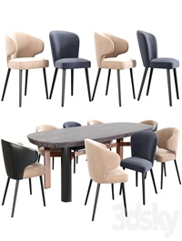 Minotti Aston Dining Chair Set