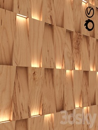 Modern 3D wall panel with lighting variation
