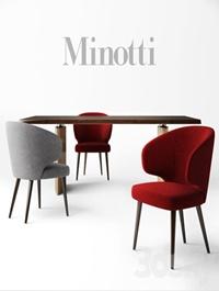 Minotti chair ASTON table MORGAN