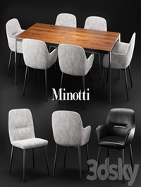 Minotti Flavin chair & Jorn table