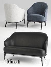 Sofa and chair minotti leslie