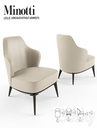 Minotti leslie armchair without armrests