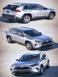 Toyota RAV4 LE 2019 3D Model