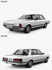 Ford Granada Sedan 1982 3D model