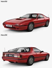 Mazda RX-7 coupe 1985 3D model