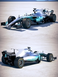 F1 Mercedes W08 2017 3D model