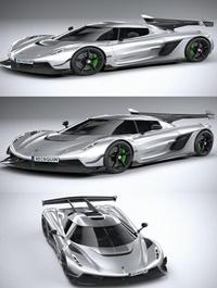 Koenigsegg jesko 2020 2 3d model