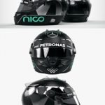 Nico Rosberg 2016 style Racing helmet