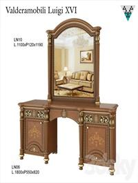 Dressing table and mirror Valderamobili Luigi XVI
