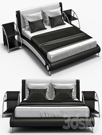 Leather bed Aonidisi 959