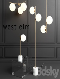 WEST ELM Sphere Lamp