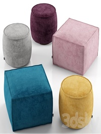 Muffin and Soap ottoman Calligaris