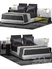 Minotti YANG BED WIDE