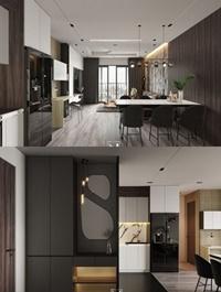 Kitchen Livingroom Scene By NguyenTuanHai