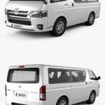 Toyota Hiace LWB Combi with HQ interior 2013 3D model
