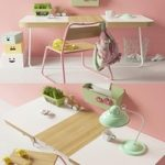 Green and pink furniture set