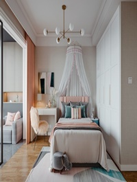 Modern daughter room bedroom