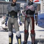 Sci-fi Police Officer Textures for Genesis 8 Male