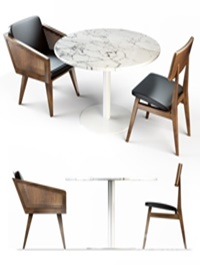 MK table and chair combination