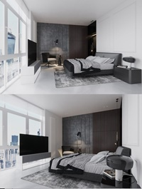 Bedroom Scene By Yong Guang Ruan