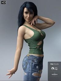 Caroline HD for Genesis 8 Female