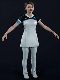 Girl in Uniform 3d model