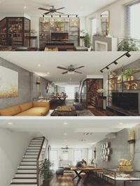 Interior livingroom Scene Sketchup By NguyenHaDuy