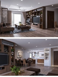 3D Interior Kitchen Livingroom Scene By DaoHoang