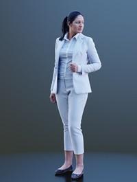 Girl Wearing Suit Scanned 3d model