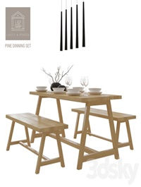 Lares & Penates Pine Dinning Set