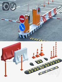 Equipment for the creation of parking lots road fences