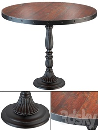 French Soda Fountain old wood dining table