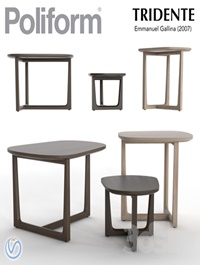 Poliform Tridente Table set