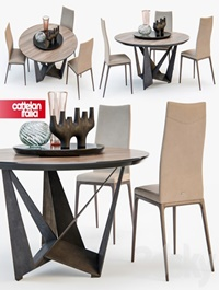 Sattelan Italia SKORPIO round table ARCADIA chair