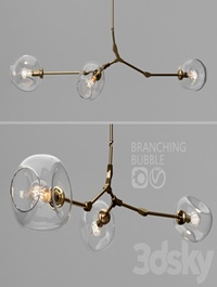 Branching bubble 3 lamps
